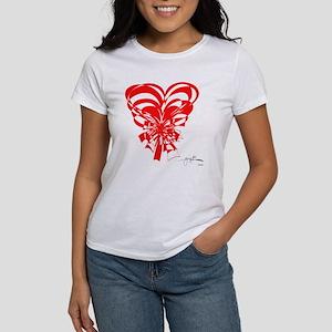 """Bouquet of Hearts"" Red Women's T-Shirt"