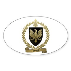 DAIGRE Family Crest Oval Decal
