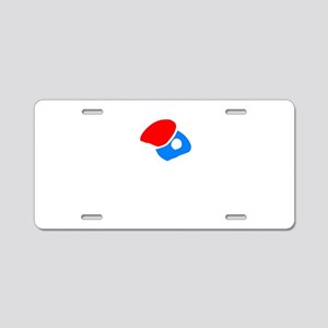 Lefty Table Tennis Warning Aluminum License Plate
