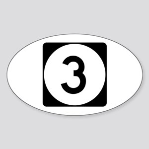 Highway 3, Iowa Oval Sticker