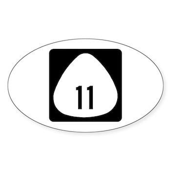 State Highway 11, Hawaii Oval Sticker