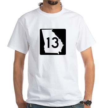 State Route 13, Georgia White T-Shirt