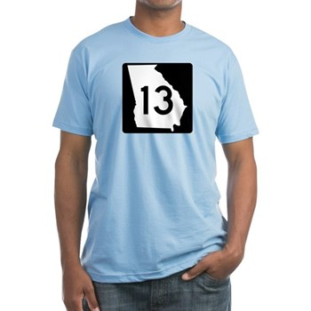 State Route 13, Georgia Fitted T-Shirt