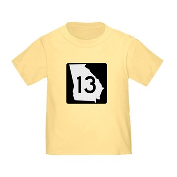 State Route 13, Georgia Toddler T-Shirt