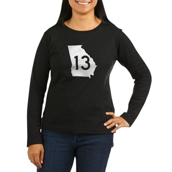State Route 13, Georgia Women's Long Sleeve Dark T
