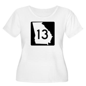 State Route 13, Georgia Women's Plus Size Scoop Ne