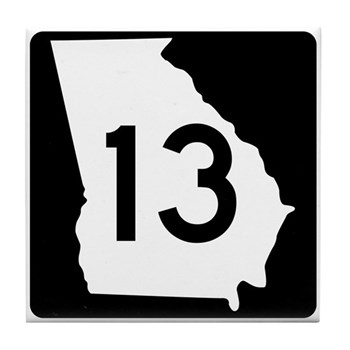 State Route 13, Georgia Tile Coaster