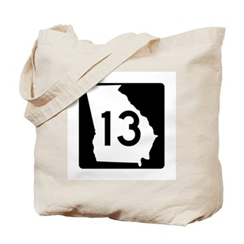 State Route 13, Georgia Tote Bag