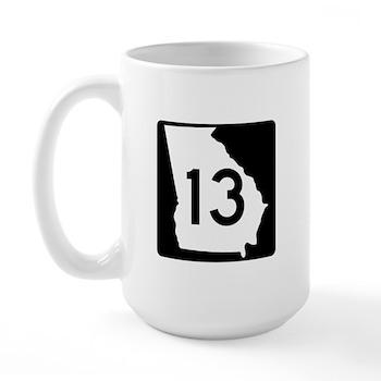 State Route 13, Georgia Large Mug