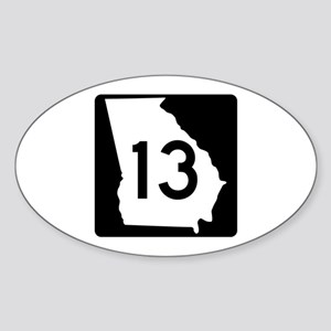 State Route 13, Georgia Oval Sticker