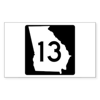 State Route 13, Georgia Rectangle Sticker
