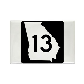 State Route 13, Georgia Rectangle Magnet (100 pack