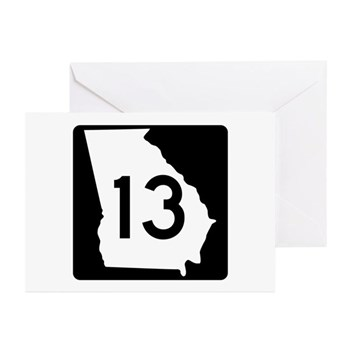 State Route 13, Georgia Greeting Cards (Pk of 10)