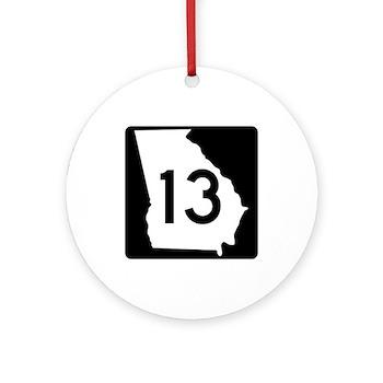 State Route 13, Georgia Ornament (Round)