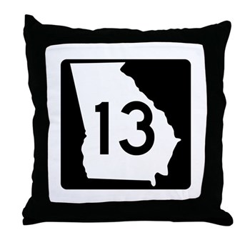State Route 13, Georgia Throw Pillow