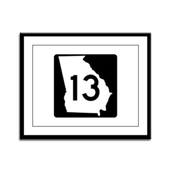 State Route 13, Georgia Framed Panel Print