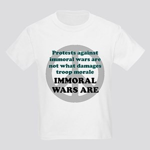 IMMORAL WARS ARE Kids T-Shirt