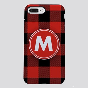 Buffalo Plaid Monogrammed iPhone 7 Plus Tough Case