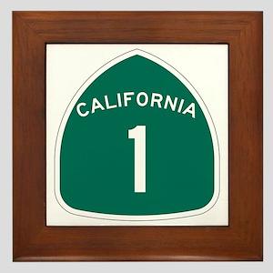 State Route 1, California Framed Tile