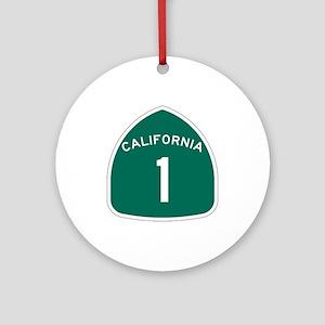 State Route 1, California Ornament (Round)