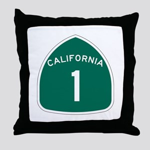 State Route 1, California Throw Pillow