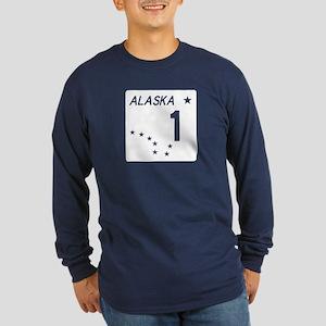 Route 1, Alaska Long Sleeve Dark T-Shirt