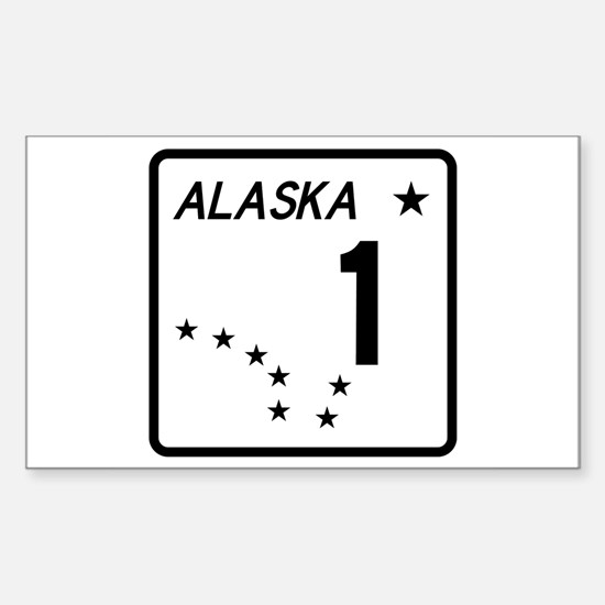 Route 1, Alaska Rectangle Decal