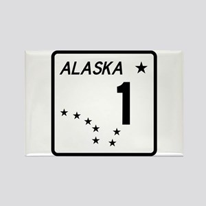 Route 1, Alaska Rectangle Magnet