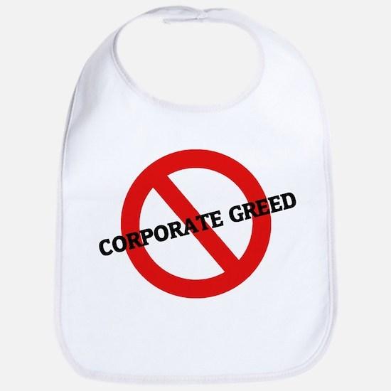 Anti Corporate Greed Bib