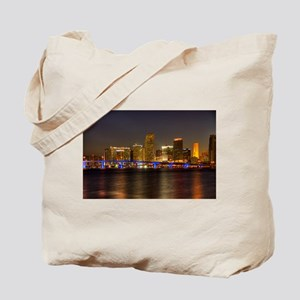 Miami at Night Tote Bag