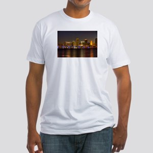 Miami at Night Fitted T-Shirt