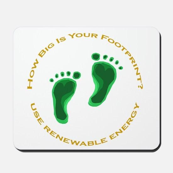 Carbon Footprint Renewable En Mousepad