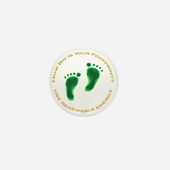 Carbon Footprint Renewable En Mini Button