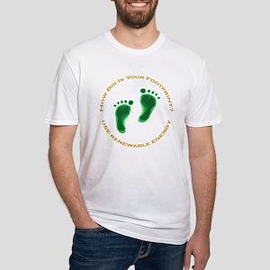 Carbon Footprint Renewable En Fitted T-Shirt