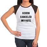 ACORN Canceled My Vote Women's Cap Sleeve T-Shirt