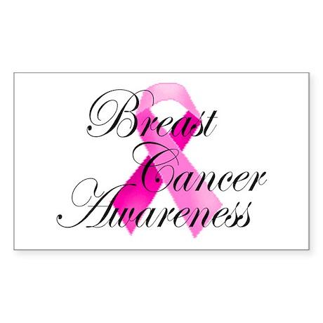Breast Cancer Awareness 5 Rectangle Sticker