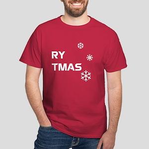 Merry Christmas, Pt. 2 - White on Dark T-Shirt