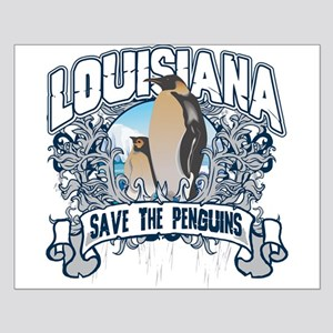 Save the Penguins Louisiana Small Poster