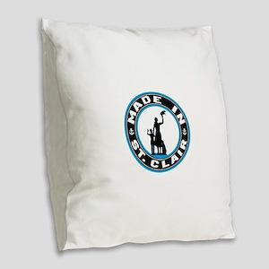 Made In St Clair Burlap Throw Pillow