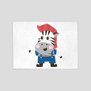 cute cartoon Zebra for kids 5'x7'Area Rug