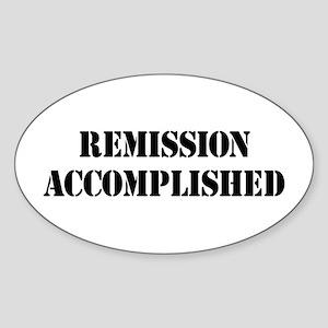 Remission Accomplished Sticker (Oval)