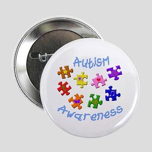 """Autism Awareness 2.25"""" Button"""