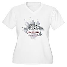 Frostbitten Women's Plus Size V-Neck T-Shirt