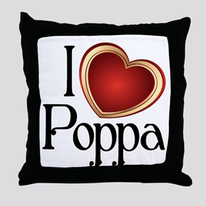 I heart Poppa Throw Pillow