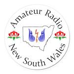 Amateur Radio Nsw Logo Round Car Magnet