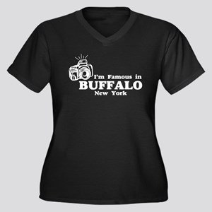 I'm Famous in Buffalo New York Women's Plus Size V