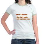 Sex is like beer Jr. Ringer T-Shirt