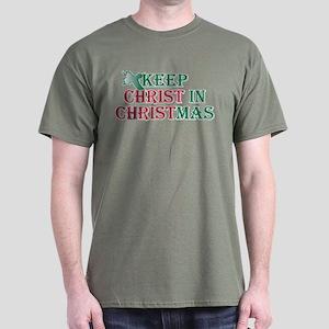 Keep Christ Cross Dark T-Shirt