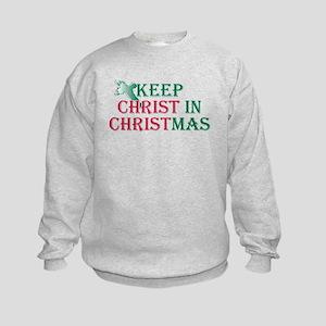 Keep Christ cross Kids Sweatshirt