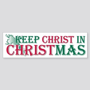 Keep Christ Cross Bumper Sticker